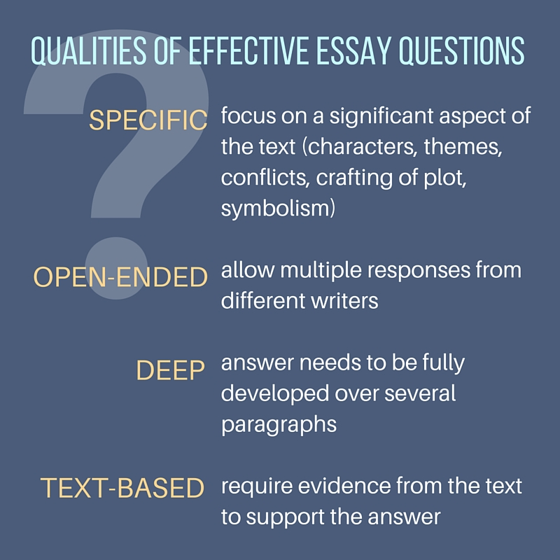 good essay questions Do not know how to write a good essay we know how to help you do not waste your time and contact us now.