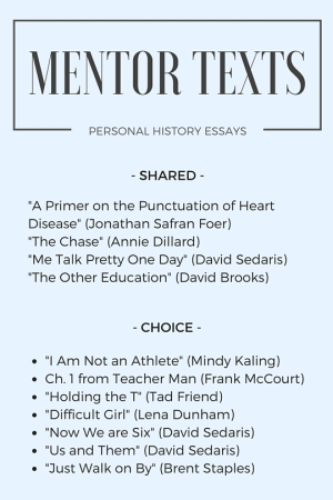 -Personal History- Mentor Texts (2)