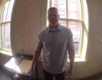 Frank standing in the Washington D.C. office of Clara Barton, Winter 2016